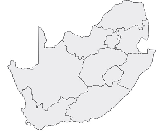 Map Of South Africa Provinces Outline | Jackenjuul